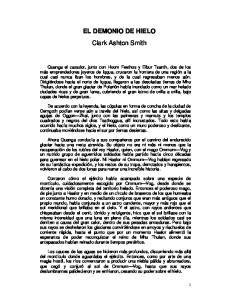 EL DEMONIO DE HIELO Clark Ashton Smith