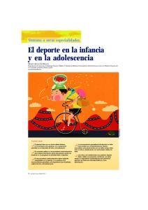 El deporte en la infancia y en la adolescencia