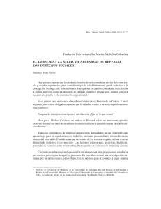 EL DERECHO A LA SALUD. LA NECESIDAD DE REPENSAR LOS DERECHOS SOCIALES