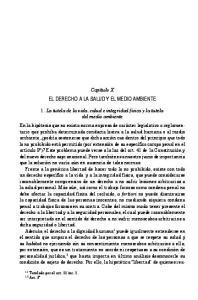 EL DERECHO A LA SALUD Y EL MEDIO AMBIENTE