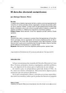 El derecho electoral costarricense