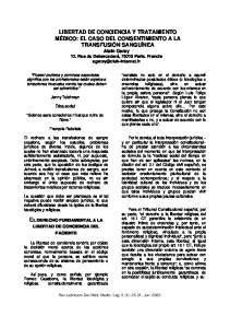 EL DERECHO FUNDAMENTAL A LA LIBERTAD DE CONCIENCIA DEL PACIENTE