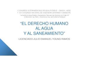EL DERECHO HUMANO AL AGUA Y AL SANEAMIENTO