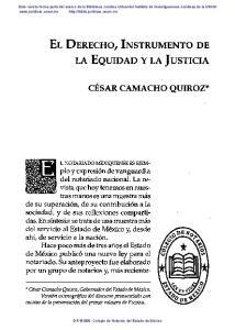 EL DERECHO, INSTRUMENTO DE