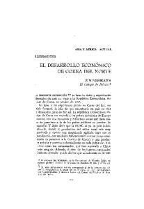 EL DESARROLLO ECONOMICO DE COREA DEL NORTE