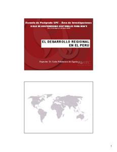 EL DESARROLLO REGIONAL EN EL PERU