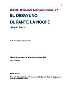 EL DESAYUNO DURANTE LA NOCHE
