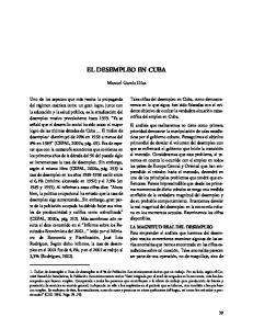 EL DESEMPLEO EN CUBA