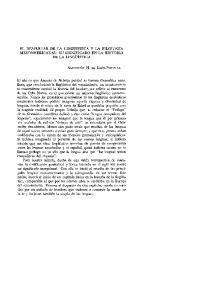 EL DESPERTAR DE LA LINGUISTICA Y LA FILOLOGIA MESOAMERICANAS: SU SIGNIFICADO EN LA HISTORIA DE LA LINGUISTICA