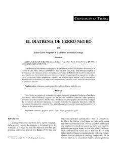 EL DIATREMA DE CERRO NEGRO
