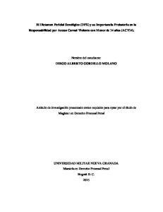 El Dictamen Pericial Sexológico (DPX) y su Importancia Probatoria en la Responsabilidad por Acceso Carnal Violento con Menor de 14 años (ACV14)