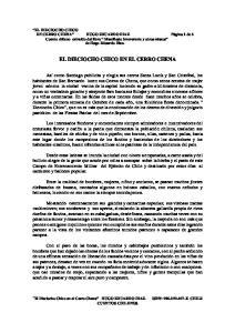 EL DIECIOCHO CHICO EN EL CERRO CHENA