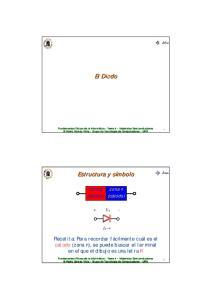 El Diodo. Estructura y símbolo