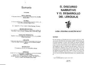EL DISCURSO NARRATIVO Y EL DESARROLLO DEL LENGUAJE