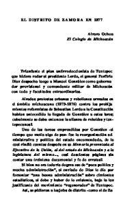 EL DISTRITO DE ZAM ORA EN 1877