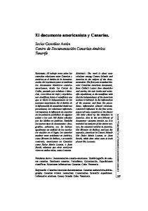 El documento americanista y Canarias