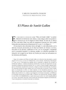 El documento conocido como Plano de Sankt Gallen 1 es probablemente