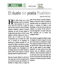 El duelo del poeta Pushkin
