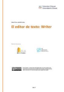 El editor de texto: Writer