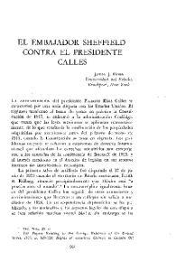 EL EMBAJADOR SHEFFIELD CONTRA EL PRESIDENTE CALLES