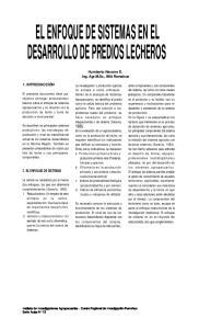 EL ENFOQUE DE SISTEMAS EN EL DESARROLLO DE PREDIOS LECHEROS