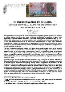 EL ENTRECRUZARSE DE RELATOS: