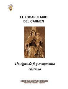 EL ESCAPULARIO DEL CARMEN