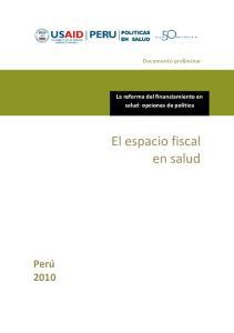 El espacio fiscal en salud