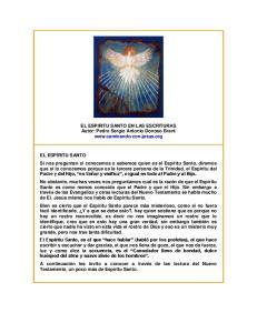 EL ESPIRITU SANTO EN LAS ESCRITURAS Autor: Pedro Sergio Antonio Donoso Brant