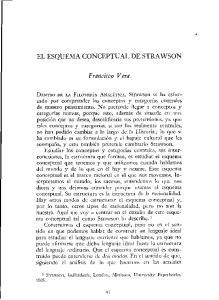 EL ESQUEMA CONCEPTUAL DE STRAWSON