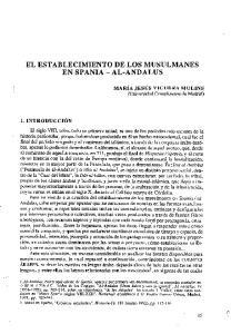 EL ESTABLECIMIENTO DE LOS MUSULMANES EN SPANIA - AL-ANDALUS