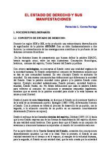 EL ESTADO DE DERECHO Y SUS MANIFESTACIONES