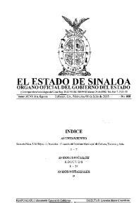 EL ESTADO DE SINALOA