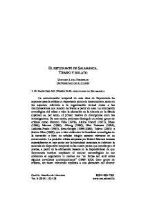 EL ESTUDIANTE DE SALAMANCA. TIEMPO Y RELATO
