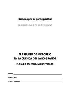 EL ESTUDIO DE MERCURIO EN LA CUENCA DEL LAGO GRANDE