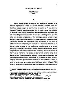 EL ESTUDIO DEL PODER. Anibal Romero (2000)