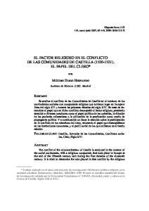 EL FACTOR RELIGIOSO EN EL CONFLICTO DE LAS COMUNIDADES DE CASTILLA ( ). EL PAPEL DEL CLERO*