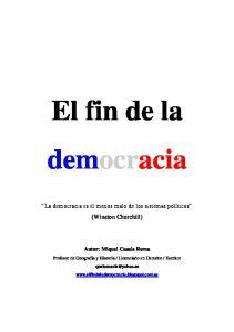 El fin de la democracia