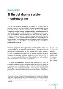 El fin del drama serbiomontenegrino