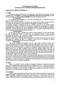 EL FLAMENCO EN ALMERIA HISTORIA, PALOS Y ARTISTAS MAS REPRESENTATIVOS