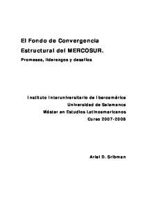 El Fondo de Convergencia Estructural del MERCOSUR