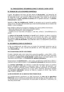 EL FRANQUISMO: DESARROLLISMO Y CRISIS ( )