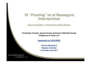 El Fronting en el Reaseguro Internacional