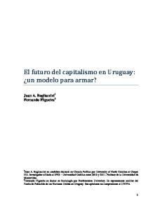 El futuro del capitalismo en Uruguay: un modelo para armar?