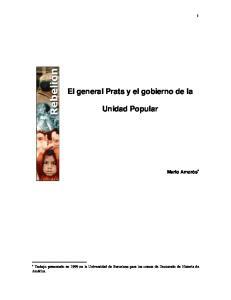 El general Prats y el gobierno de la. Unidad Popular