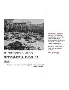 EL GENOCIDIO: ALGO NORMAL EN LA ALEMANIA NAZI