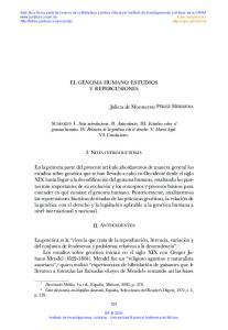 EL GENOMA HUMANO. ESTUDIOS Y REPERCUSIONES