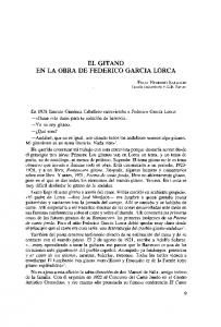 EL GITANO EN LA OBRA DE FEDERICO GARCIA LORCA