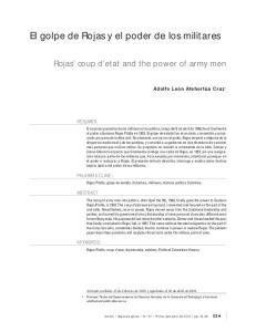 El golpe de Rojas y el poder de los militares