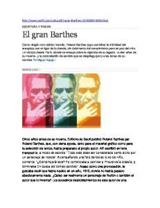 El gran Barthes